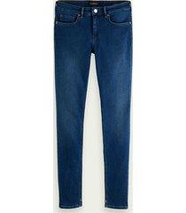 scotch & soda bohemienne skinny-fit jeans - blue vinyl