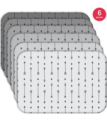 jogo americano - love decor  basic flechas kit com 6 peças