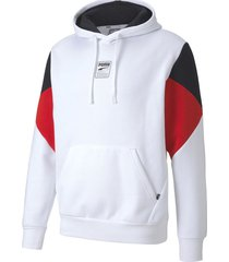 buzo blanco puma rebel hoody capucha logo hm
