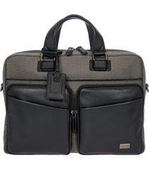 bric's monza briefcase - grey