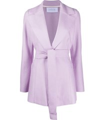 harris wharf london belted single-breasted blazer - purple