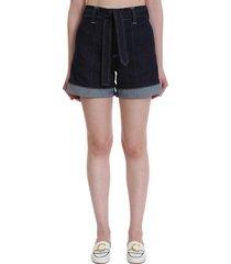 chloé shorts in blue denim