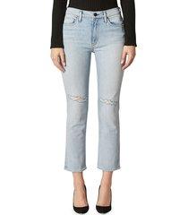 hudson women's barbara cropped straight jeans - medium ingido - size 30 (8-10)