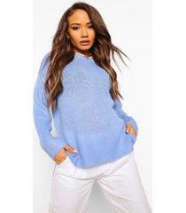 baggy trui met zijsplit, blue