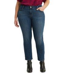 levi's 711 trendy plus size skinny ankle jeans