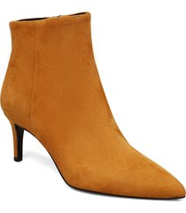 pointed bootie low high front shoes boots ankle boots ankle boots with heel brun apair