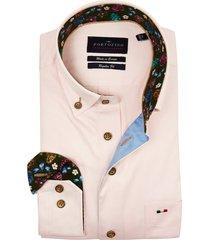 portofino shirt regular fit roze contrastkraag