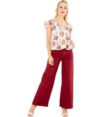 pantalon bahia rojo ragged pf51310076