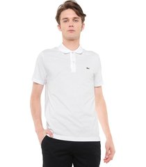 camisa polo lacoste regular fit logo branca