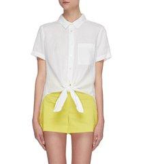 'hekanina' tie front short sleeve shirt