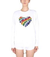 michael michael kors crew neck sweatshirt with pride heart logo