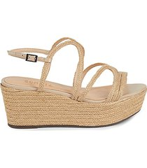 palmma braided leather wedges