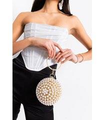 akira the old ball and chain pearl detail purse