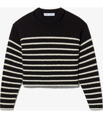 proenza schouler white label bouclé stripe sweater black/offwhite l