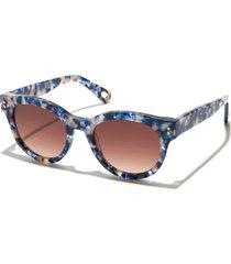ocean blue nolita round sunglasses