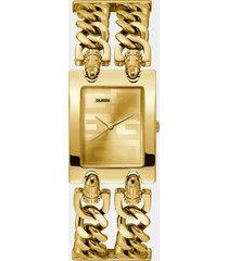 zegarek analogowy z bransoletą w formie łańcuszka