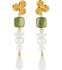 'alba' freshwater pearl drop earrings