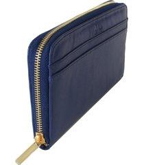 carteira laceê grande azul