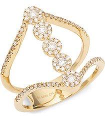 14k yellow gold & 0.49 tcw diamond cutout ring