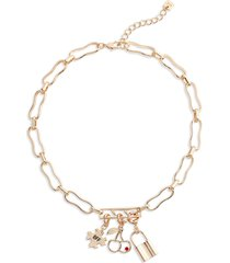 open edit collected charms necklace in gold- cherry at nordstrom