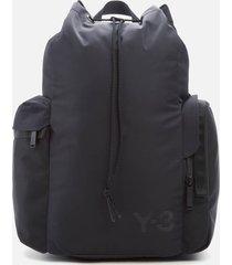 y-3 men's bucket backpack - black