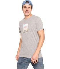 camiseta gris-multicolor jack & jones