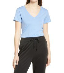 women's nordstrom everyday v-neck t-shirt, size x-small - blue