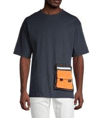 american stitch men's pockets t-shirt - blue - size m
