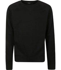 balmain embossed sleeve detail sweatshirt