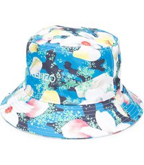 kenzo floral-print bucket hat - blue