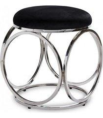 stołek pufa welwetowa anillo srebrna