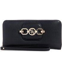guess hensely large zip around wallet wristlet
