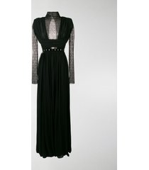 philosophy di lorenzo serafini lace panel evening dress