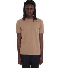 maison margiela t-shirt in leather color cotton