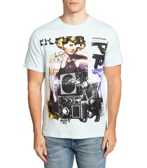prps men's graphic t-shirt - blue - size xl