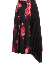 vivetta polyester floral print midi skirt