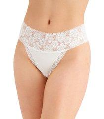 jenni women's wide-lace-waist thong underwear, created for macy's