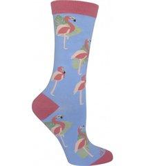 calcetin algodón mujer flamingo rosa rockford