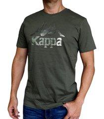 camiseta kappa authentic estessi - verde oliva