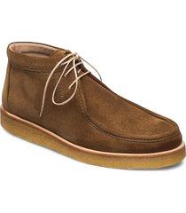 shoes - flat snörade stövlar brun angulus
