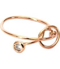 anel lovelee acessórios delicado zircônia rosê