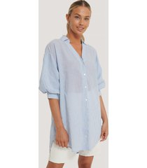 sisters point oversize skjorta - blue
