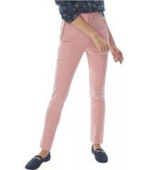 pantalón cierres laterales rosa corona