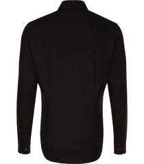 seidensticker heren overhemd zwart poplin ml7 tailored fit