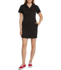 dickies juniors' button-front mini dress
