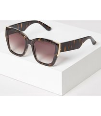 lane bryant women's metallic detail square sunglasses onesz black
