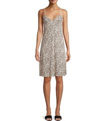lunar leopard cotton slip dress