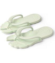 tanga casual verde claro de moda plana zapatillas