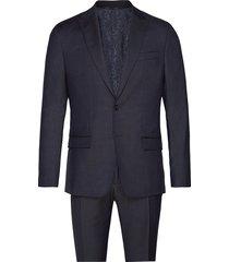 mouline jacquard s100 slim suit kostym blå calvin klein