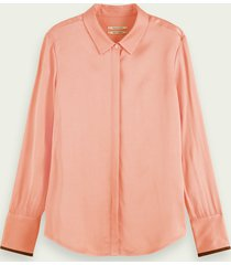 scotch & soda regular fit blouse met lange mouwen